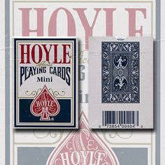 Mini Hoyle Playing Cards (blue) by USPPC - Since the 1700s, Edmund Hoyle has been the authority in card games. True to his legacy we craft each deck of Hoyle using custom paper and coatings, so that you can bring the authority to your next get it here: http://www.wizardhq.com/servlet/the-17206/mini-hoyle-playing-cards-blue-by-usppc/Detail?source=pintrest