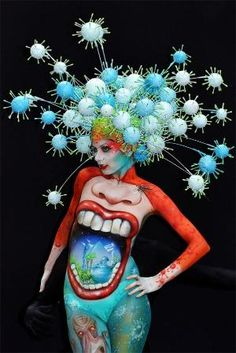 Phantasmagoric body art from this year's World Bodypainting Festival by cornelia