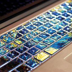 Van Gogh's Starry NightPervious to lightMacbookdecal by Tloveskin, $11.99