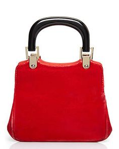 GIORGIO ARMANI Red Velour Handbag