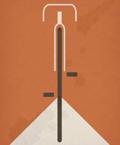 bauhaus-movement: Bauhaus Design Poster Bicycle by © Kenneth...