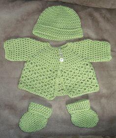 Free pattern baby set ... Teresa Restegui http://www.pinterest.com/teretegui/ ✔