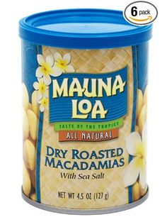 I've always thought they should roast these a little longer. Mauna Loa Dry Roasted Macadamias With Sea Salt.