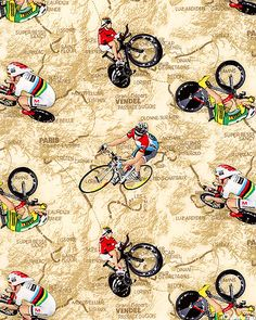 Tour de France Map - fabric design at eQuilter.com