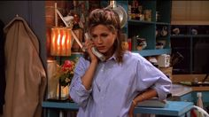 "A mens' work-shirt | 20 Things Rachel Wore In ""Friends"" That You'd Definitely Wear Now"