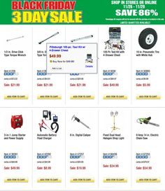 Harbor Freight is the place to be if you after buying products such as tools and items for your garden, motor vehicle or home. This year is very special because Harbor Freight Black Friday 2015 ad leaks early, and some of the discounts are already great. Black Friday Ads, Black Friday Shopping, News Today, Tool Kit, Motor Vehicle, Events, Tools, Garden, Products