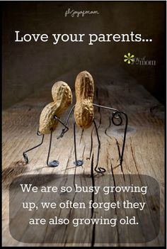 Love your parents...We are so busy growing up, we often forget they are also growing old. <3 More beautiful quotes on Joy of Mom!