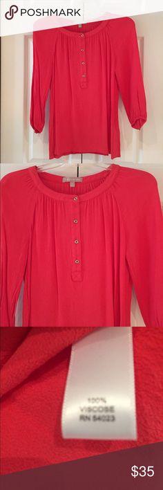 Banana Republic 3/4 sleeve coral blouse Banana Republic 3/4 sleeve coral blouse Banana Republic Tops