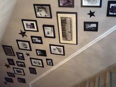 Stairway photo wall Stars <3