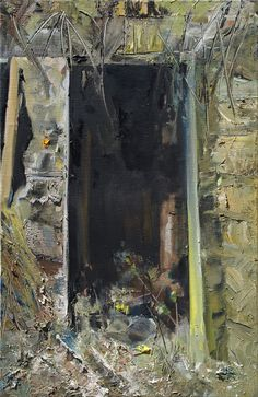 Ruins in the Forest (Old toilets), oil on canvas