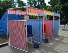 Carnival Booth PVC Frame Plans DIY Carnival by WoodlarkDesigns