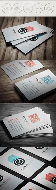 Creative Business Card 045 #GraphicRiver A great Business card template for your business company. This card Template is perfect for programmers, IT company,Photographer's , Business company. File Included 4 PSD files and 1 readme file. Features Fully Editable Files (fully layered files) 3.5×2 (3.75×2.25 with bleeds + trim mark) 300 DPI CMYK Colors Vertical Templates 2 Colors ( Red and Blue ) Qr Code – Editable via smart object Print Ready Files Files Includes 2 Ph...