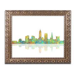 Cleveland Ohio by Marlene Watson Ornate Framed Graphic Art