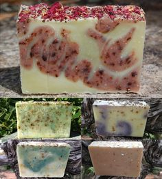 Organic Soap Sampler - 5 Pack by Spinster Sisters, Inc. on Scoutmob Shoppe Organic Recipes, Raw Food Recipes, Organic Soap, Diy Skin Care, Home Made Soap, Diy Mask, Handmade Soaps, Soap Making, Diy Beauty