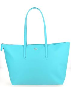 Grand sac shopping LACOSTE Turquoise