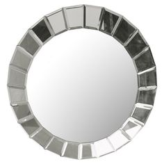 Beveled wall mirror designed by Carolyn Kinder.     Product: Mirror    Construction Material: Mirrored glass
