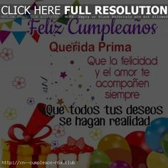 Postales bonitas de cumpleaños para mi prima - Cumpleaños Club Club, Facebook, Twitter, Food, Google, Instagram, Happy Birthday Cards, Birthday Cards, Postcards
