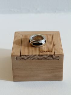 Wooden box with sliding lid