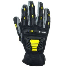 Carhartt Gloves Men's A626 BKGYHY High Visibility Stronghold Gloves