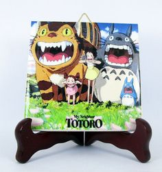 My Neighbor Totoro CatBus Ceramic Tile HQ Hayao by TerryTiles2014