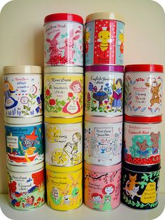 Karel Capek tea tin collection.. I say No to the tea and yes, yes, yes to the kitsch tins