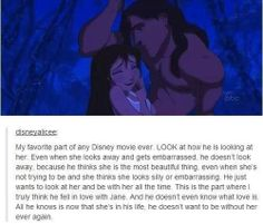 Tarzan and I've pinned this image before and likely will again. The way that Tarzan looks at Jane is one of the hottest things Disney has put in their movies. Disney Pixar, Disney Memes, Disney Quotes, Disney And Dreamworks, Disney Love, Disney Magic, Disney Stuff, Tarzan Disney, Disney Facts