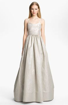 Alice + Olivia Silk Gown | would love this in more of a gold/champagne!