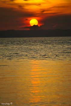 Sunset view in Camotes Island, Philippines