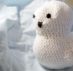 Crochet Stuffed Owl   Snowy Owl Amigurumi   Soft Owl Plushie  