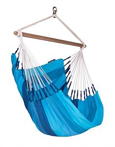 Outdoor space makeover  LA SIESTA  Orquídea Lagoon - Cotton Basic Hammock Chair <3 This is an Amazon Associate's Pin. Click the image for detailed description on the website.