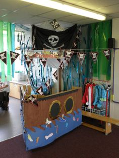A super Pirate classroom role-play area photo contribution. Great ideas for your classroom!