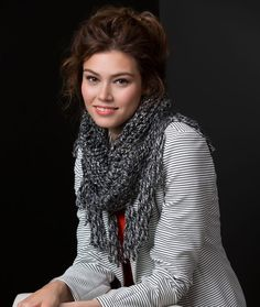 Urban Cowl Free Knitting Pattern from Red Heart Yarns