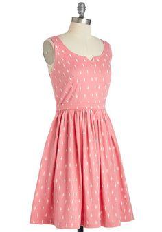 Adorable Errands Dress in Pink   Mod Retro Vintage Dresses   ModCloth.com