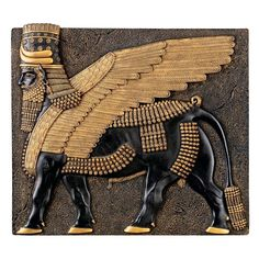 Park Avenue Collection Assyrian Winged Bull Plaque