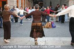 Sardana dance in Barcelona.