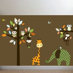 Elephant Wall Stickers for Kids Bedroom Ideas