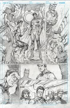Justice League 10 pg 10 final pencils by Jim Lee