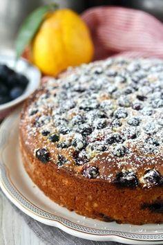Lemon Blueberry Ricotta Tea Cake with extra blueberries Easy Bread Recipes, Sweet Recipes, Cake Recipes, Dessert Recipes, Tea Cakes, Cupcake Cakes, Lemon Ricotta Cake, Blueberry Recipes, Blueberry Cake