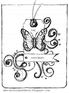 Tag card sketch