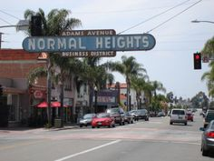 One of those lively communities is Normal Heights . Their neon sign was ...