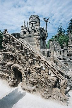 Ferdinand Cheval's Palais Ideal in Hauterives, France. Featured in RV 38. http://rawvision.com/articles/autobiography-ferdinand-cheval