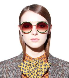 Gucci Red and Green Frame Round Sunglasses Human Photography, Sunglasses 2017, Gucci Spring, Sunglasses Women Designer, Red Green, Frame, Shades, Portrait Ideas, Sunnies
