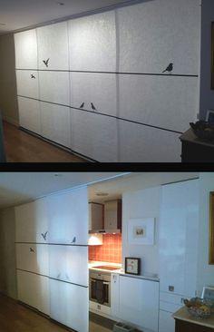 Para los que pensaban que los paneles japoneses solo se aplicaban en ventanas, te mostramos un ejemplo de separador estancias. http://www.laventanadecolores.es/