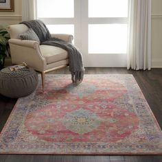 Nourison Ankara Global ANR01 Rug - Multicolour Ankara Stil, Nourison Rugs, Color Effect, Colour, Types Of Rugs, Red Rugs, Traditional Rugs, Vintage Rugs, Vintage Antiques
