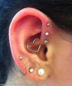 Piercing anti helix et daith
