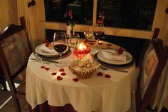 jantar a luz de velas no quarto - Pesquisa Google