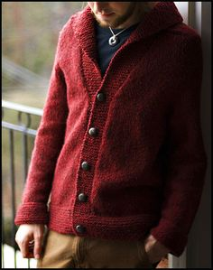 Smokin' Jacket by brooklyntweed, via Flickr  All men need a cardigan like this - for those weekends stuck at the country cottage when it's wet/snowing out!