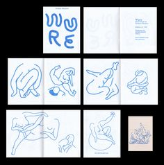 "hahahardcore:  WURE - Zine by San Francisco based illustrator Zachary Bizzarro. A collection of wildly grotesque abstract digital illustrations. 16 pg, 7″ x 9″ one color blue Riso print. Each order ships with a 12"" x 18"" Newsprint Poster. Published by NONPOROUS. Buy here - $5  Great ZIGZAG in use!"