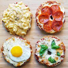 Pizza Bagel 4 Ways