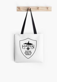 Haven Syfy Inspired Tote Bag |  Haven Keep Calm White Badge Logo